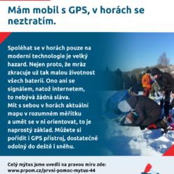 Mýtus 44 — Mám mobil s GPS, v horách se neztratím.