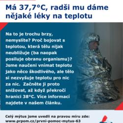Mýtus 63 – Má 37,7°C, radši mu dáme nějaké léky na teplotu