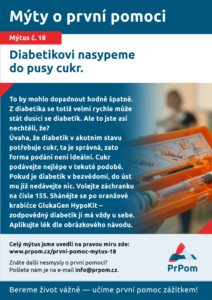 Mýtus 18 - Diabetikovi nasypeme do pusy cukr.
