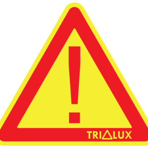 Reflexní trojúhelník TRILUX — žlutý s výkřičníkem