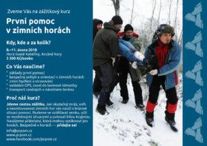 První pomoc v zimních horách - zážitkový kurz první pomoci od PrPom