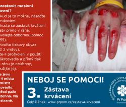 Zástava krvácení — neboj se pomoci!