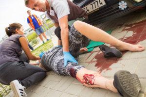 Školení první pomoci zážitkem — PrPom — první pomoc u dopravní nehody, autolékárnička, masivní krvácení