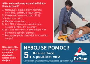 NEBOJ se pomoci! Resuscitace s použitím AED - PrPom