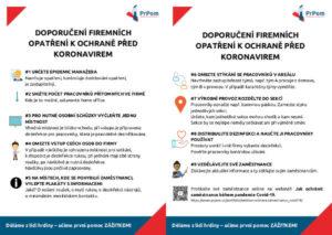 Informace pro firmy v době pandemie COVID-19 od PrPom: jak chránit zaměstnance?