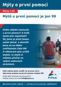 Mýtus 99 — Mýtů o první pomoci je jen 99